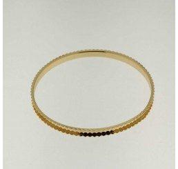 Base rigida per bracciali in bronzo dorato