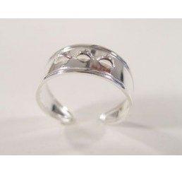 base per anello regolabile con 3 magline in argento 925