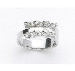 base per anello regolabile con 8 magline