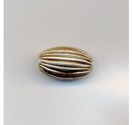 ovalina rigata mm. 8 - ag 925 - conf 2 pz