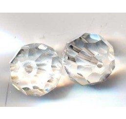 pallina sfccettata mm. 12 crystal