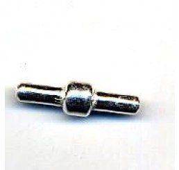chiusura per caucciù forato mm. 6  - ag. 925 - conf. 1 pz