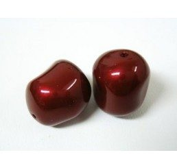 swarovski perla irregolare mm. 14 bordeaux