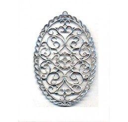 pendente traforato per orecchini in argento 925