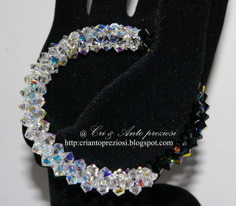 Super Bracciale con swarovski – Perline creare gioielli fai da te  YE41