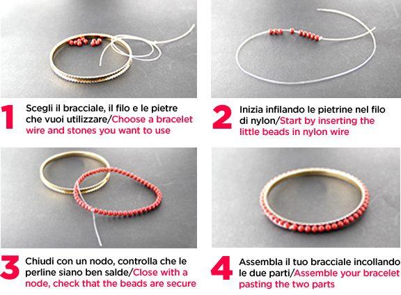 Estremamente 4 passi… per un braccialetto glam! – Perline creare gioielli fai  UC35