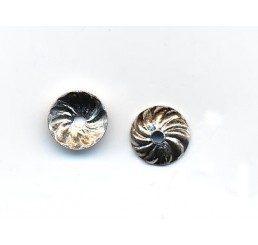 coppetta rigata mm. 7 - argento 925 - conf. 20 pz