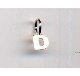 pendente letterina d mm. 10 - ag 925 - conf 1 pz