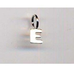 pendente letterina e mm. 10 - ag 925 - conf 1 pz