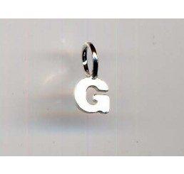 pendente letterina g mm. 10 - ag 925 - conf 1 pz