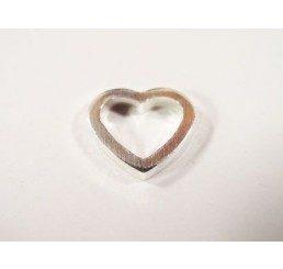 maglia cuore mm. 12 - ag 925 - conf 2 pz.
