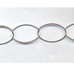 catena a maglie ovali -  lunghezza maglia mm 26