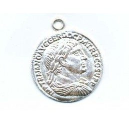 pendente moneta mm.16 - ag 925 - conf 2 pz