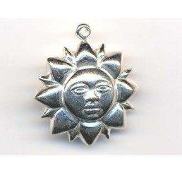 pendente a forma di sole - ag 925 - conf 1 pz