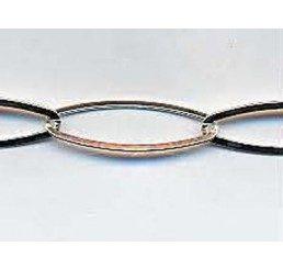 catena maglie ovali  schiacciate mm. 17 x 6