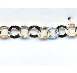 catena maglia circolare martellata mm. 4,50
