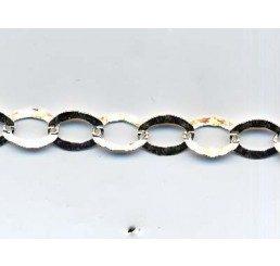 catena maglia ovale martellata mm 8 x 6