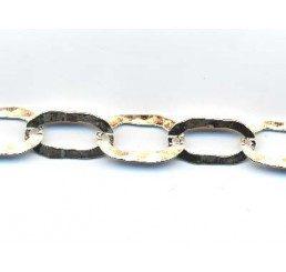 catena maglia ovale martellata mm 13 x 7