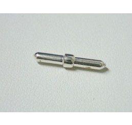 chiusura per caucciù forato mm. 2,5  ag. 925 - conf. 1 pz