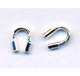 salvacavetto in argento mm. 4,4x 3,5 - conf. - conf 6 pz