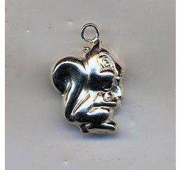 pendante in argento dorato a forma di scoiattolo