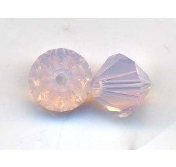swarovski - bi-cono rose water opal mm. 6
