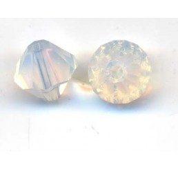 swarovski - bi-cono white opal mm. 6