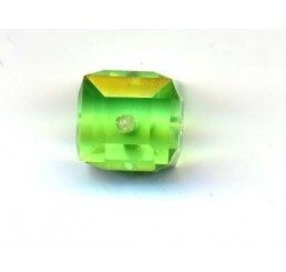 swarovski - cubo peridot mm. 6