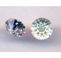 swarovski - bicono schiacciato crystal ab mm. 6