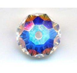 swarovski - briolette mm. 8 - crystal ab