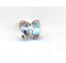swarovski - farfallina crystal ab mm. 8
