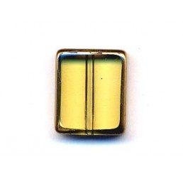 distanziatore rettangolare giallo con bordo dorato