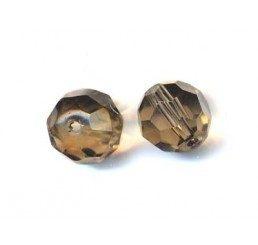pallina sfaccettata mm. 8 grigio