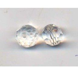 pallina sfaccettata mm. 8 crystal