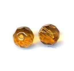 pallina sfaccettata mm. 8 gialla