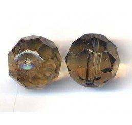 pallina sfaccettata mm. 14 grigia