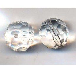 pallina sfaccettata mm. 14 crystal