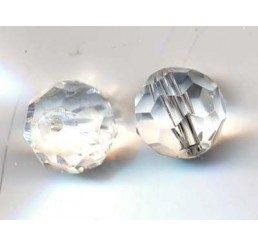 pallina sfaccettata mm. 10 crystal