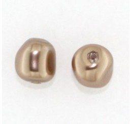 swarovski - perla irregolare mm. 10 bronze