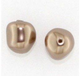 swarovski - perla irregolare mm. 12 bronze