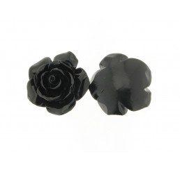 rosellina nera con fori passanti mm. 35