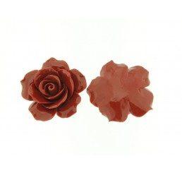rosellina rossa con fori passanti mm. 35