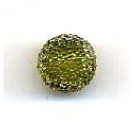 candy bead 10 mm - verde oliva