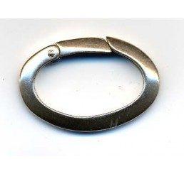chiusura ovale a scatto mm 26 - ag. 925 - conf 1 pz