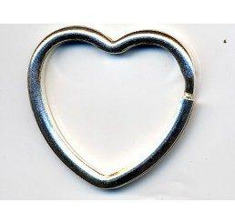 anello per portachiavi  a forma di cuore - conf. 1 pz