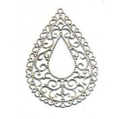 pendenti per orecchini traforati - argento dorato