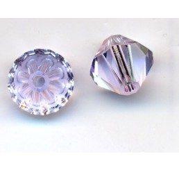 swarovski - bi-cono violet mm. 6