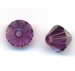 swarovski - bi-cono amethyst mm. 6