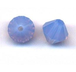swarovski - bi-cono crystal air blue opal mm. 6
