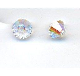 swarovski - bi-cono crystal ab mm. 4
